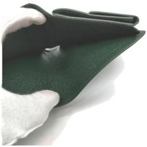 Louis Vuitton Green Taiga LEather Porto Vie 3 Cults Wallet Credit 857415