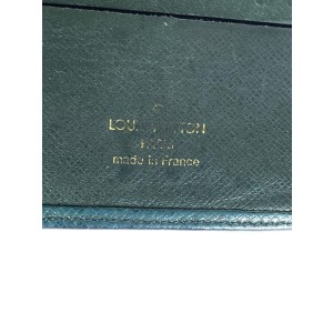 Louis Vuitton Green Taiga Leather Slender Bifold Men's Wallet 1lv614