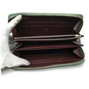 Louis Vuitton Green Epi Electric Zippy Wallet Zip Around Long 861544