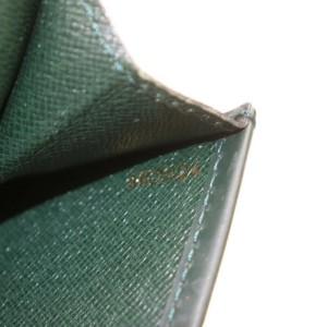 Louis Vuitton Porte Document Volga Fold Clutch Taiga Leather Portfolio 872793