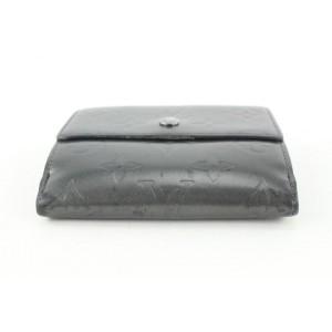 Louis Vuitton Charcoal Monogram Vernis Mat Elise Compact Snap Wallet 362lvs525