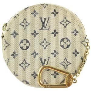 Louis Vuitton Rare Beige x Grey Mini Lin Croisette Round Coin Purse 106lvs428