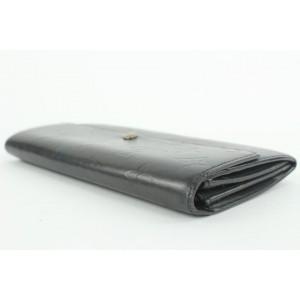 Louis Vuitton Grey Monogram Vernis Sarah Wallet Porte Tresor 3lvs111