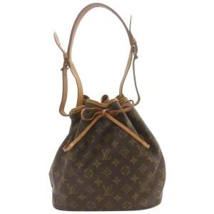 Louis Vuitton Monogram Petit Noe Drawstring Bucket Hobo Bag 863108