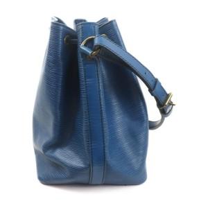 Louis Vuitton Blue Epi Leather Toledo Petit Noe Drawstring Bucket Hobo Bag 863161