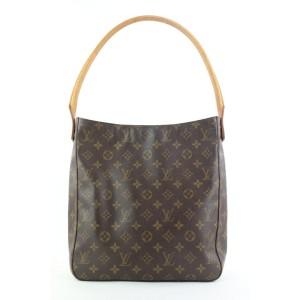 Louis Vuitton Monogram Looping GM Zip Hobo Bag 194lvs29