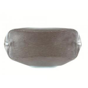 Louis Vuitton Moka Epi Leather Brown Manadara MM Hobo  Shoulder bag 3lvm128