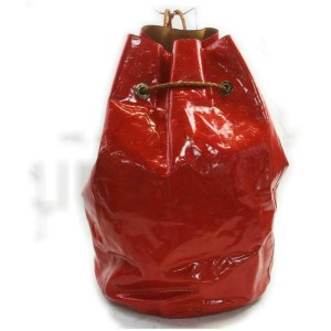 Louis Vuitton Ultra Rare Red Monogram Vernis Morton Drawstring Hobo Backpack 8610177