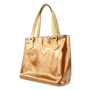 Louis Vuitton Bronze Monogram Vernis Houston Zip Tote Bag 621lvs316