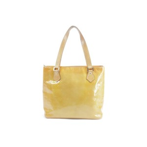 Louis Vuitton Houston Zip Top Yellow 5lk0114 Yellow-orange Monogram Vernis Leather Shoulder Bag