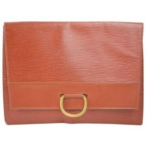 Louis Vuitton Iena Pochette Fold 868354 Brown Leather Clutch