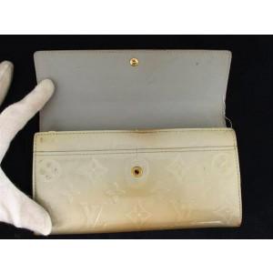 Louis Vuitton Monogram Vernis Blanc Corail Sarah Bifold Long Wallet