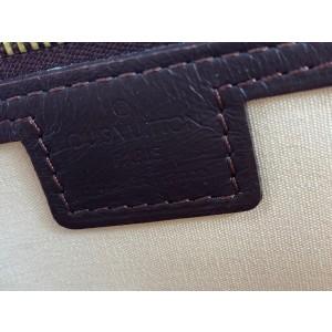 Louis Vuitton Pink Burgundy Bordeaux Monogram Mini Lin Josephine PM Boston 4LV1022