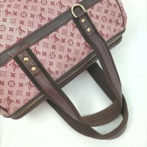 Louis Vuitton Bordeaux Monogram Mini Lin Josephine GM Boston Speedy Bag 862037