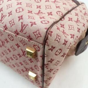 Louis Vuitton Bordeaux Monogram Mini Lin Josephine GM Boston Speedy Large 861551
