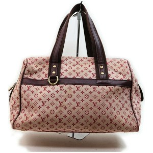 Louis Vuitton Bordeaux Monogram Mini Lin Josephine GM Large Speedy Boston 861659