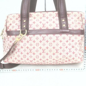 Louis Vuitton Bordeaux Monogram Mini Lin Josephine GM with Strap Speedy 861696