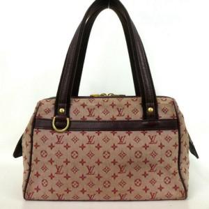 Louis Vuitton Bordeaux Josephine PM Monogram Mini Lin Boston Speedy 860113