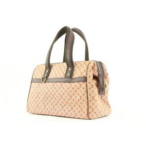 Louis Vuitton Bordeaux Monogram Mini Lin Josephine GM Boston Speedy Bag 307lvs222