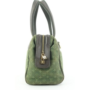 Louis Vuitton Green Khaki Monogram Mini Lin Josephine PM Boston Speedy Bag 862815
