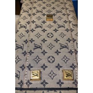 Louis Vuitton Monogram Mini Lin Josephine PM Navy Blue Boston Speedy 860718