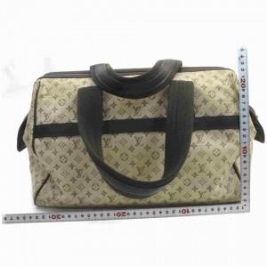 Louis Vuitton Josephine Speedy Olive Gm Khaki 860114 Brown Monogram Mini Lin Satchel