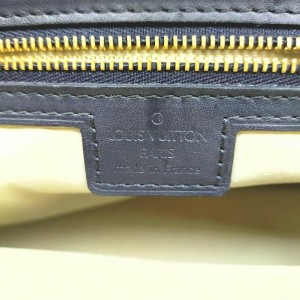 Louis Vuitton Blue Monogram Mini Lin Josephine PM Boston Speedy 861745