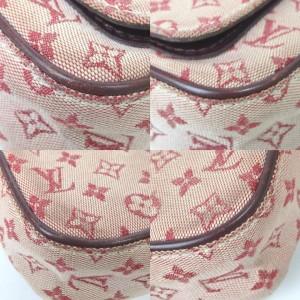 Louis Vuitton Juliette Bordeaux Pink Monogram Mini Lin 869157 Burgundy Canvas Cross Body Bag