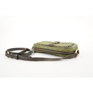 Louis Vuitton Green Khaki Mini Lin Juliette MM Crossbody bag 254lvs212