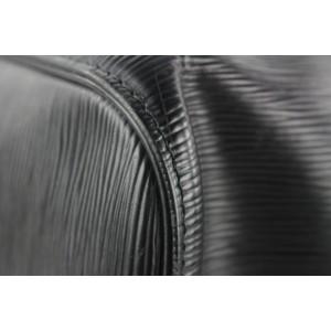 Louis Vuitton Black Epi Leather Noir Keepall 50 Duffle Bag 84lvs427