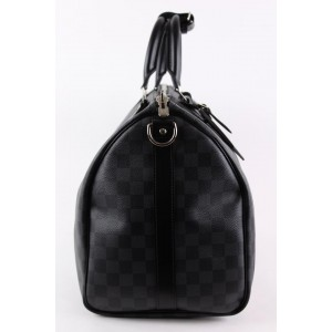 Louis Vuitton Damier Graphite Keepall Bandouliere 45 Duffle Bag with Strap 1LVS1222