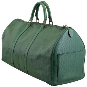 Louis Vuitton Green Epi Leather Borneo Keepall 50 860741