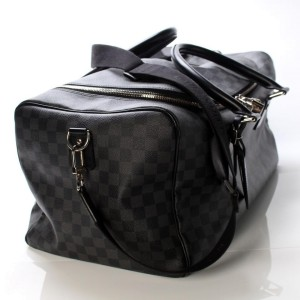 Louis Vuitton Damier Graphite Roadster 50 City with Strap Bandouliere Keepall 861113