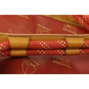 Louis Vuitton 1995 LV Cup Red Sac Marin Keepall Bandouliere Duffle Strap Bag 11lv62