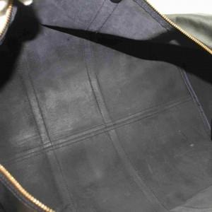 Louis Vuitton Black Ep Leather Noir Keepall 60 Boston Duffle 860681
