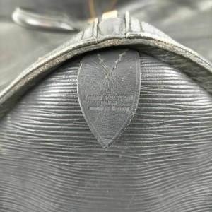 Louis Vuitton Large Black Epi Leather Noir Keepall 60 Duffle GM 855932