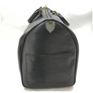 Louis Vuitton Black Epi Leather Noir Keepall 50 Duffle  861294