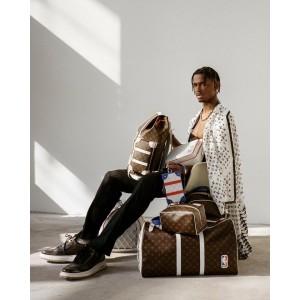 Louis Vuitton Runway LVxNBA Virgil NBA Keepall Bandouliere 55 Strap Duffle 862054