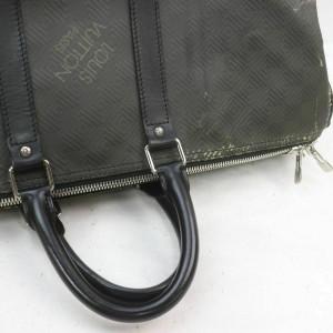Louis Vuitton Limited Graphite Damier Carbone Keepall 45 Carbon Fiber860702