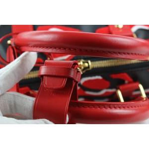 Louis Vuitton LVxUF Urs Fischer Red x Black Monogram Keepall Bandouliere 45 20lvs114