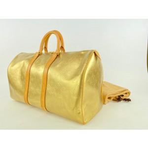 Louis Vuitton Gold Monogram Vernis Mercer Keepall Duffle 1LV1119