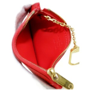 Louis Vuitton Key Pouch 872356 Red Suhali Leather Wristlet