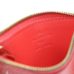 Louis Vuitton Cles Key Pouch Red Suhali Leather 859356
