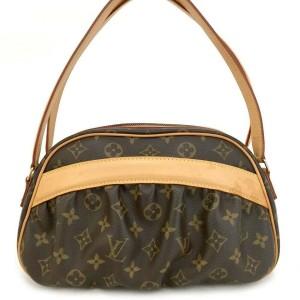 Louis Vuitton Klara Monogram Clara Bowler 872364 Brown Coated Canvas Shoulder Bag