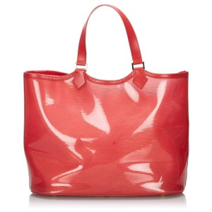 Louis Vuitton Clear Red Epi Plage Lagoon Bay GM Tote Bag  862390