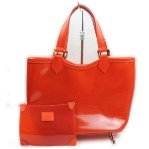 Louis Vuitton Clear Red Epi Plage Mini Lagoon Bay Tote Bag with Pouch 862297