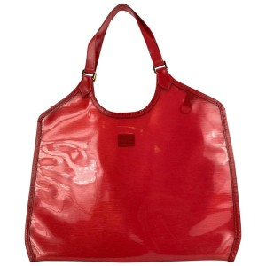 Louis Vuitton Clear Red Epi Plage Lagoon Bay Tote Bag 4LVL1127