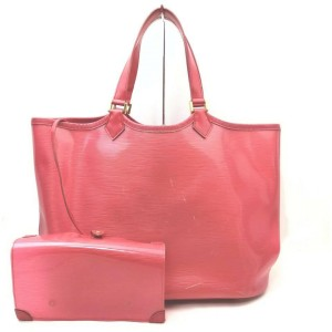 Louis Vuitton Red Epi Plage Lagoon Bay Tote Bag with Pouch  862383