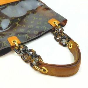 Louis Vuitton Limited Edition Translucent Clear Vinyl Monogram Ambre PM Bag 861508