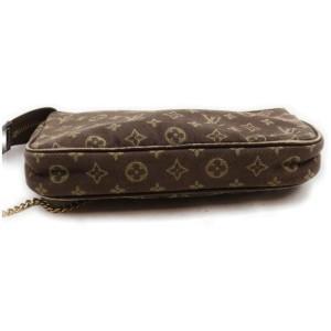 Louis Vuitton Brown Monogram Mini LinPochette Accessoires Chain Wristlet Bag 862053